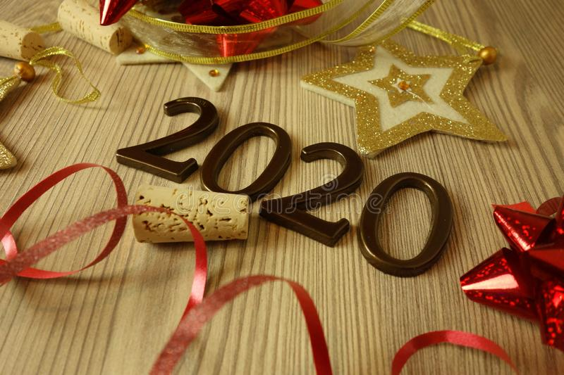 Happy New Year 2020. Background stock images